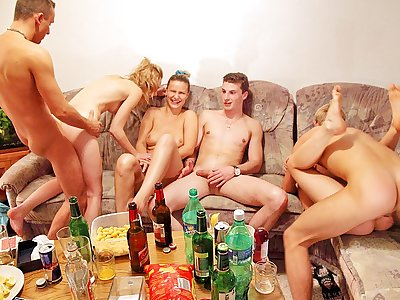 Hard-core group fucking at ultra-kinky lovemaking party