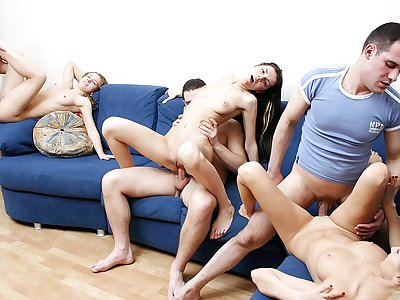 Badass college ladies throw a ultra-kinky bang-out party
