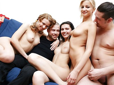 Sex-hungry ash-blonde stunner luvs super-fucking-hot college bang-out