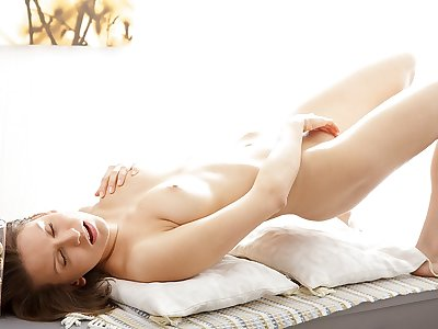 Artistic porn flick demonstrates a sweetie stroking